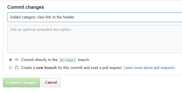Commit default.html changes