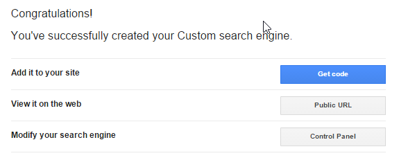 Search Created