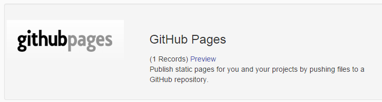 Github Pages Service