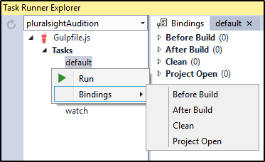 Task Build Options