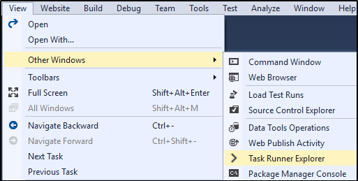 Open Task Runner Explorer