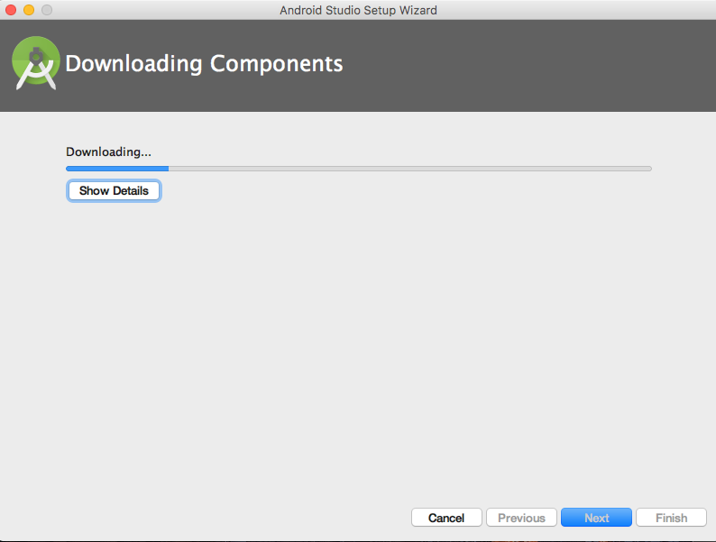 Android Studio download components