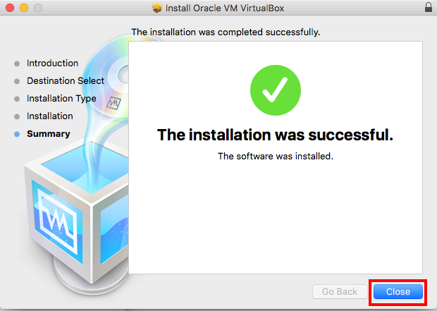 Virtualbox Install Completed