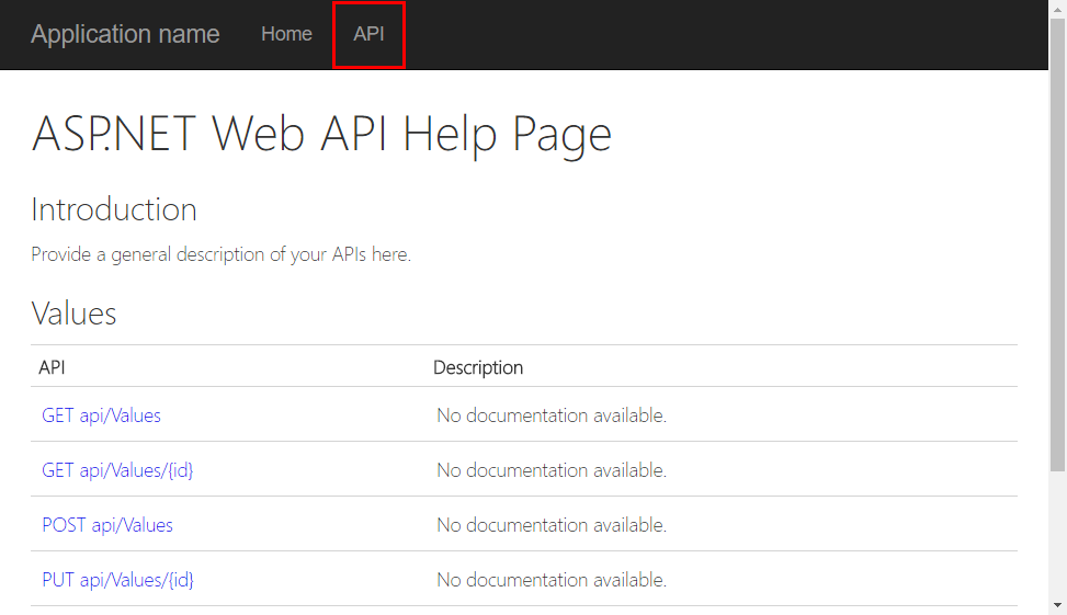 Api Doc Page in Chrome